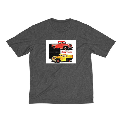 Willys Jeep Truck Men's Heather Dri-Fit Tee by SpeedTiques