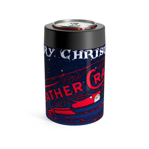 Merry Christmas Feathercraft Can Holder by Retro Boater