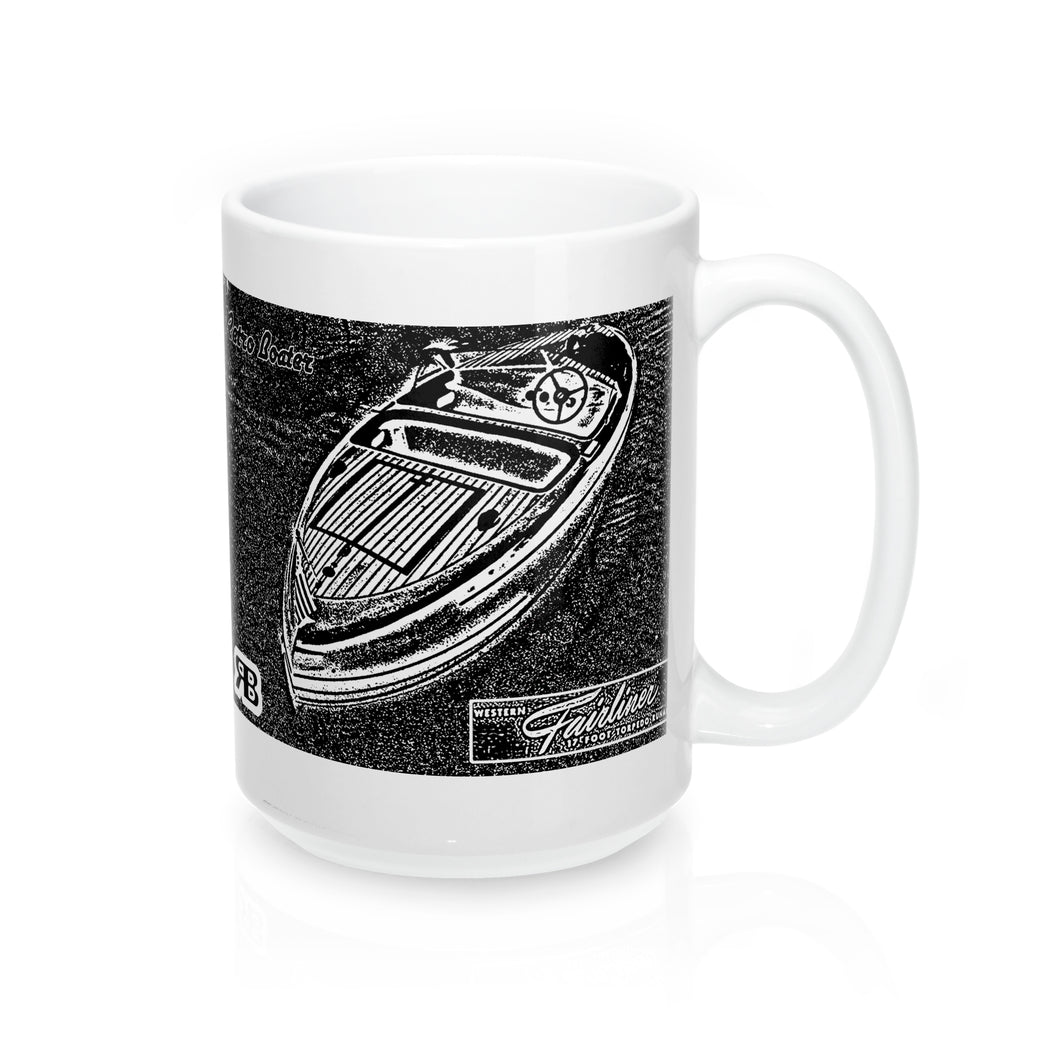 Western Fairliner Runabout 15oz Mug by Retro Boater