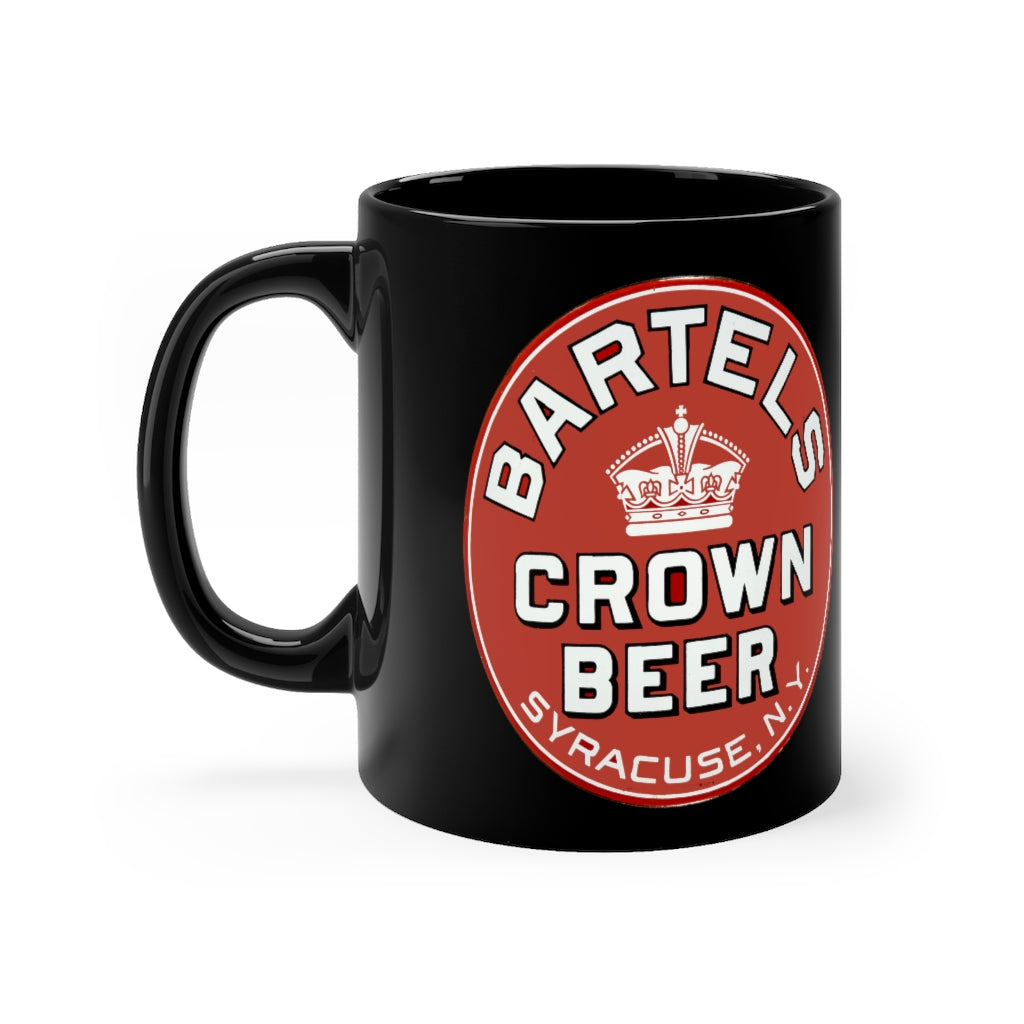 Vintage Bartles Crown Beer Syracuse, NY Black mug 11oz