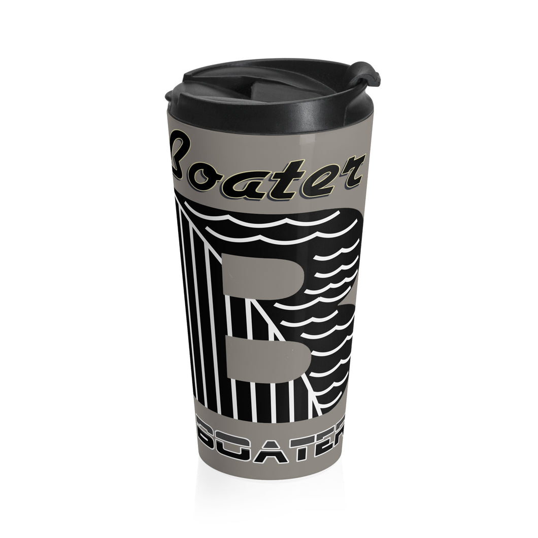Retro & Glassic Boater Stainless Steel Travel Mug