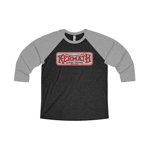 Kermath Engines Unisex Tri-Blend 3/4 Raglan Tee by Retro Boater