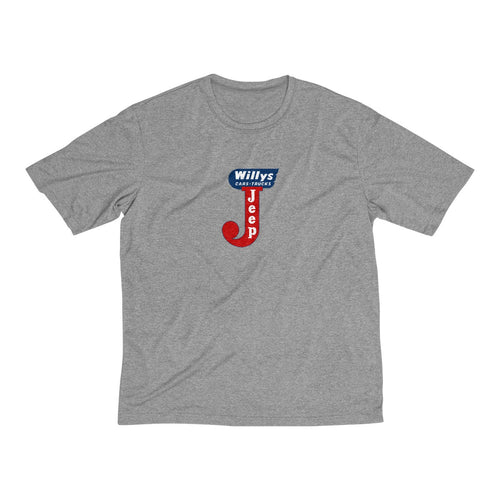 Willys Jeep Men's Heather Dri-Fit Tee by SpeedTiques