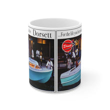 1961 Dorsett Boat Advertisement White Ceramic Mug