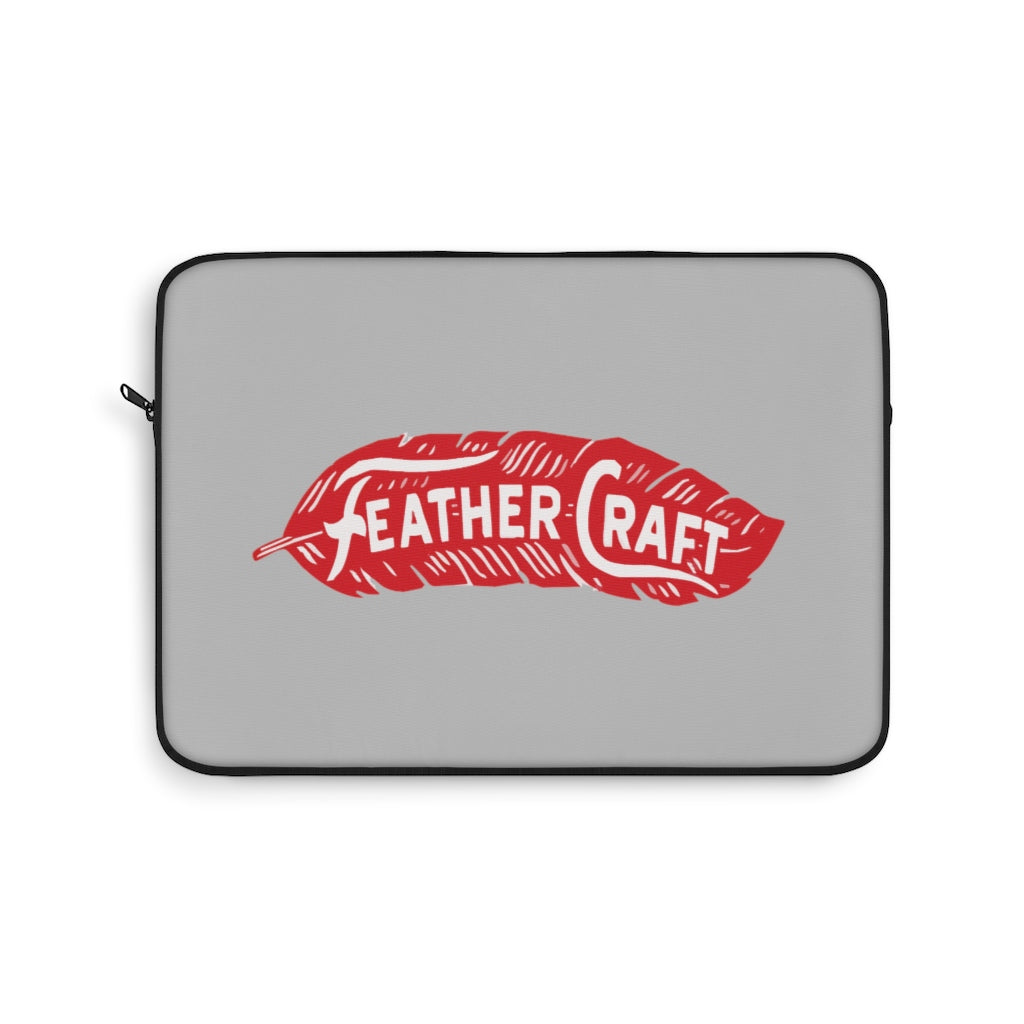 Feather Craft Boats Laptop Sleeve  by Retro Boater