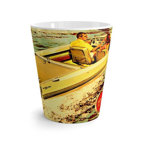 Dorsett Sea Hawk Jet Boat Latte mug by Retro Boater