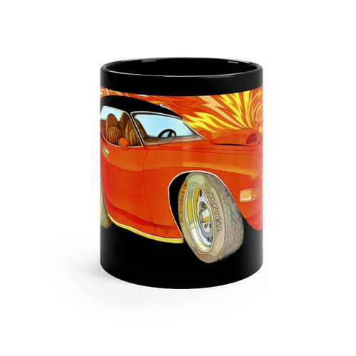1970 Plymouth Hemi Cuda Black mug 11oz by SpeedTiques