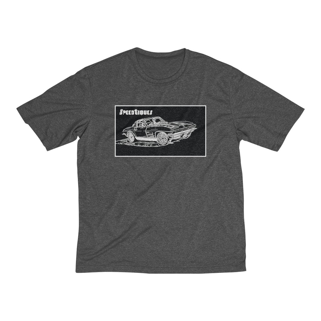 1962 Split Window Corvette Men's Heather Dri-Fit Tee by SpeedTiques