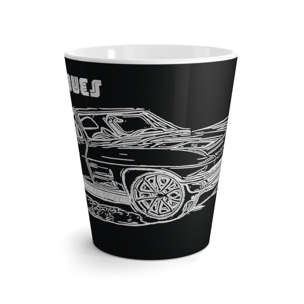 1962 Split Window Corvette Latte mug by SpeedTiques
