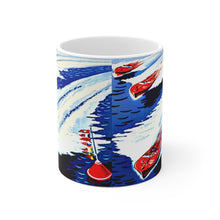 Antique Boat Race White Ceramic Mug by Retro Boater