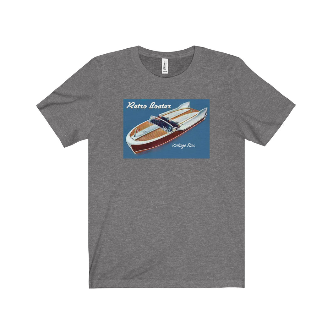Vintage Fins by Retro Boater Unisex Jersey Short Sleeve Tee