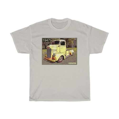 1947 Dodge COE Pickup Truck Unisex Heavy Cotton Tee by SpeedTiques