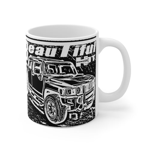 Hummer H3T Beautiful White Ceramic Mug by SpeedTiques