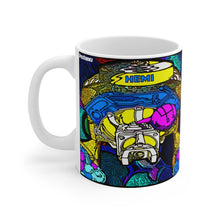 Plymouth Dodge Chrysler Hemi Engine Drawing White Ceramic Mug by SpeedTiques