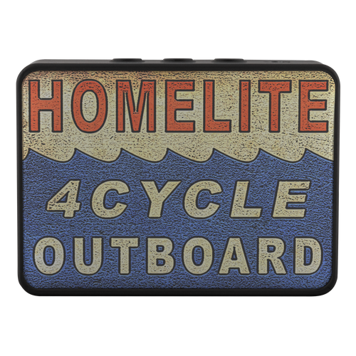 Vintage Homelite Outboard Advertisement on a Boxanne Bluetooth Speaker by Retro Boater