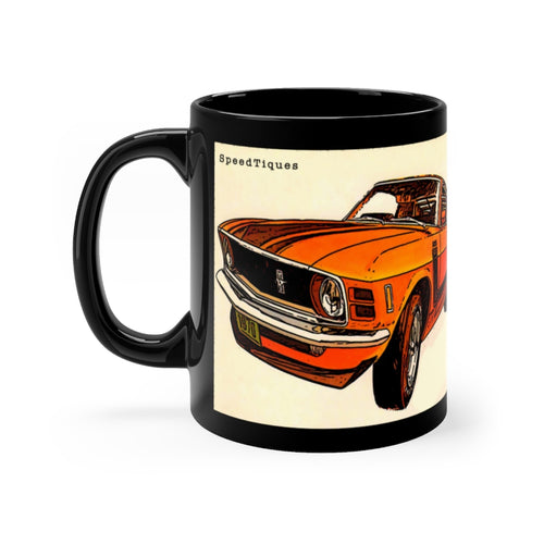1970 Ford Mustang Boss 302 Black mug 11oz