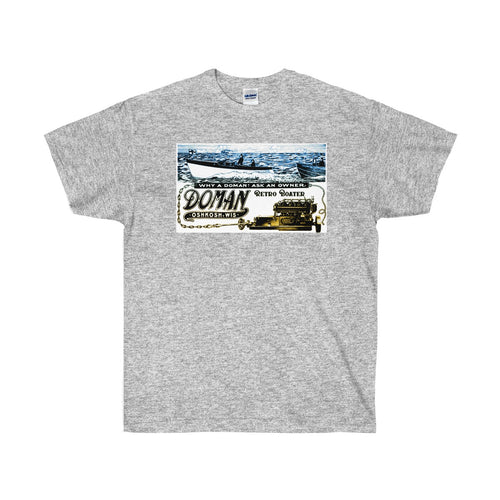 Doman Boats by Retro Boater Unisex Ultra Cotton Tee