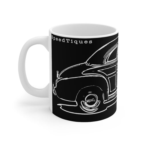 1948 Chevy Coupe Woody White Ceramic Mug by SpeedTiques