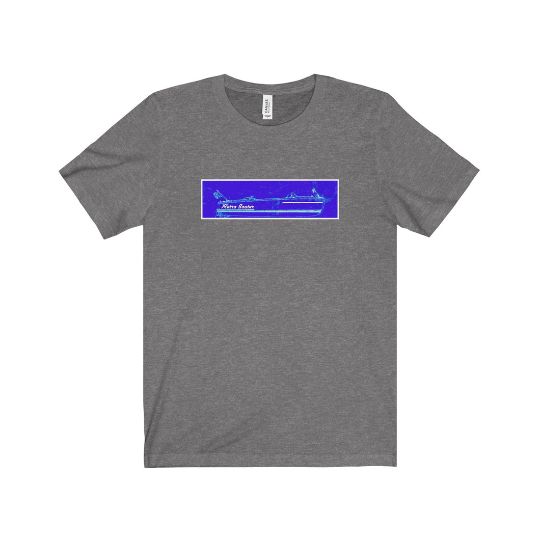 Old Blueprint by Retro Boater Unisex Jersey Short Sleeve Tee