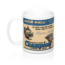 Champion Outboard Engines 11oz Mug by Retro Boater