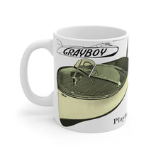 Grayboy Playboy Boats White Ceramic Mug by Retro Boater