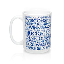 Wisconsin Lakes Bucket List 15oz Mug by Retro Boater