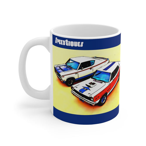 AMC Rambler American White Ceramic Mug by SpeedTiques