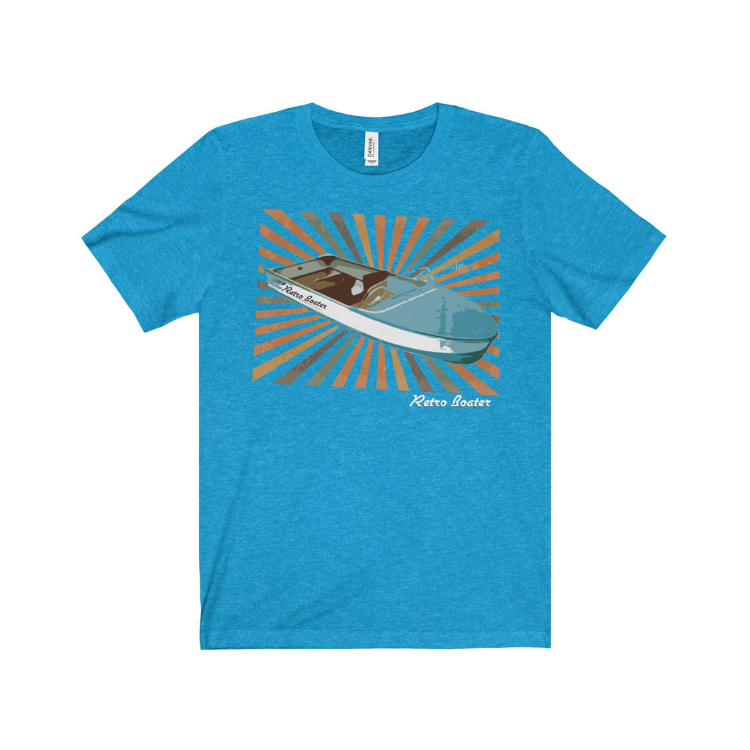 The Retro Boater Outboard Unisex Jersey Short Sleeve Tee