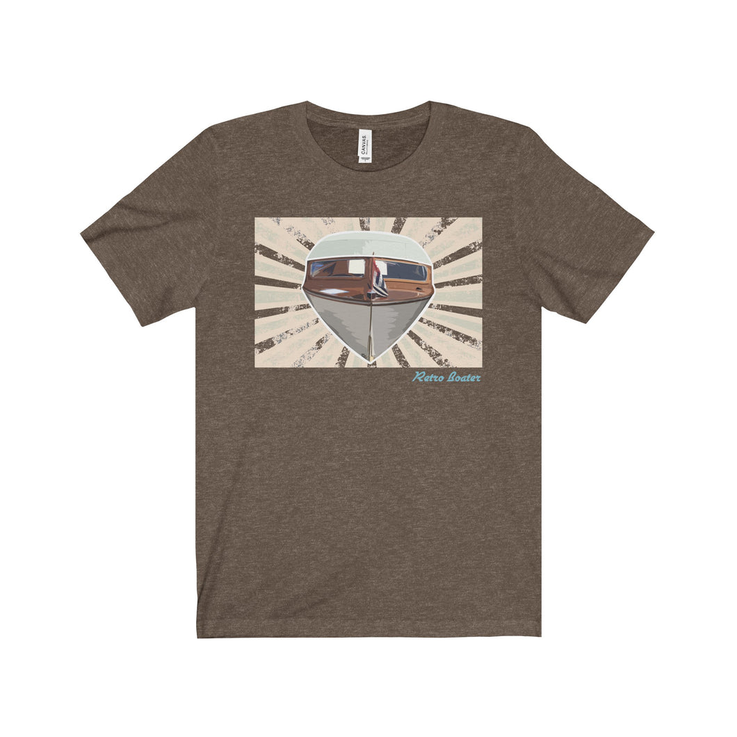 Lapstrake Art by Retro Boater Unisex Jersey Short Sleeve Tee