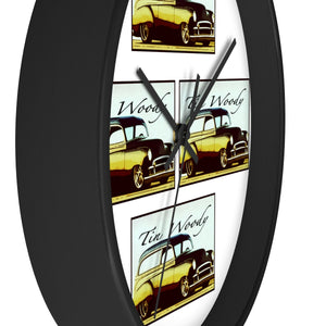 Tin Woody Wall clock