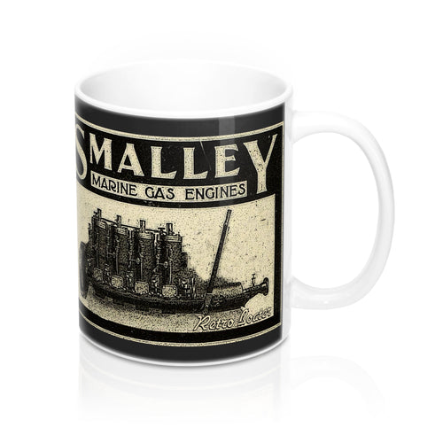 Smalley Engine Co. Ad 1906 by Retro Boater 11oz Mug