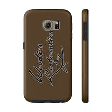 Woodies Restorations Logo in white outline All US Phone cases internal