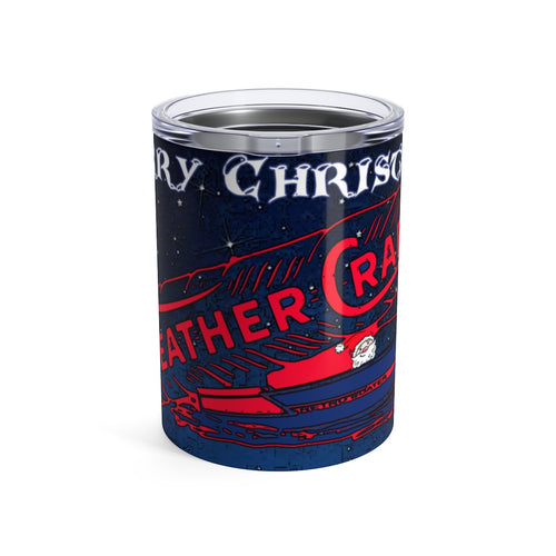 Merry Christmas Feathercraft Tumbler 10oz by Retro Boater