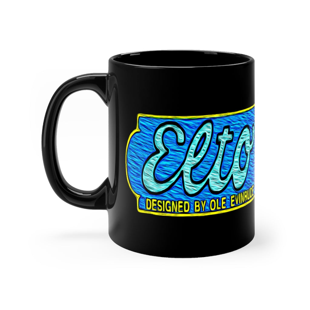 Elto Outboards Black mug 11oz by Retro Boater