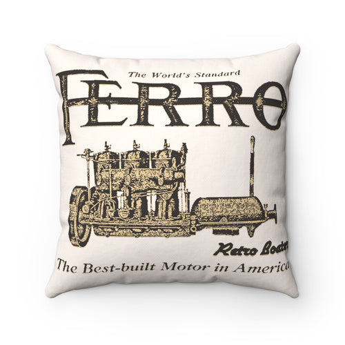 Ferro Engine Co. Pillow by Retro Boater