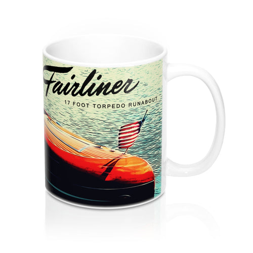 Western Fairliner Boats Mug 11oz by Retro Boater