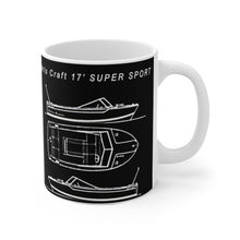 Vintage Chris Craft 17' Super Sport Mug 11oz by Retro Boater