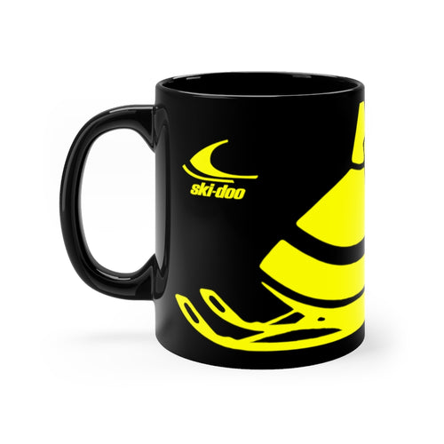 Vintage 1970 Ski-Doo Snowmobiles Black mug 11oz by SpeedTiques