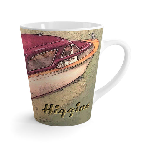 Higgins Cruiser Latte mug by Retro Boater