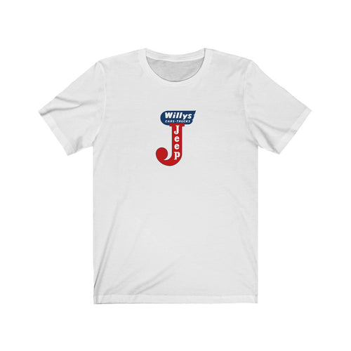 Willys Jeep Unisex Jersey Short Sleeve Tee by SpeedTiques