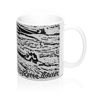 Vintage Shootout Race on the Lake 11oz Mug by Retro Boater