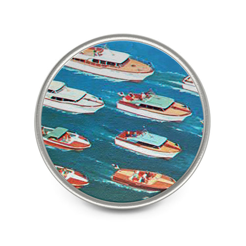 Vintage Chris Craft on Parade Metal Pin by Classic Boater