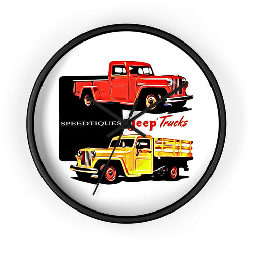 1960s Jeep Willys Pickup Truck Wall clock by SpeedTiques