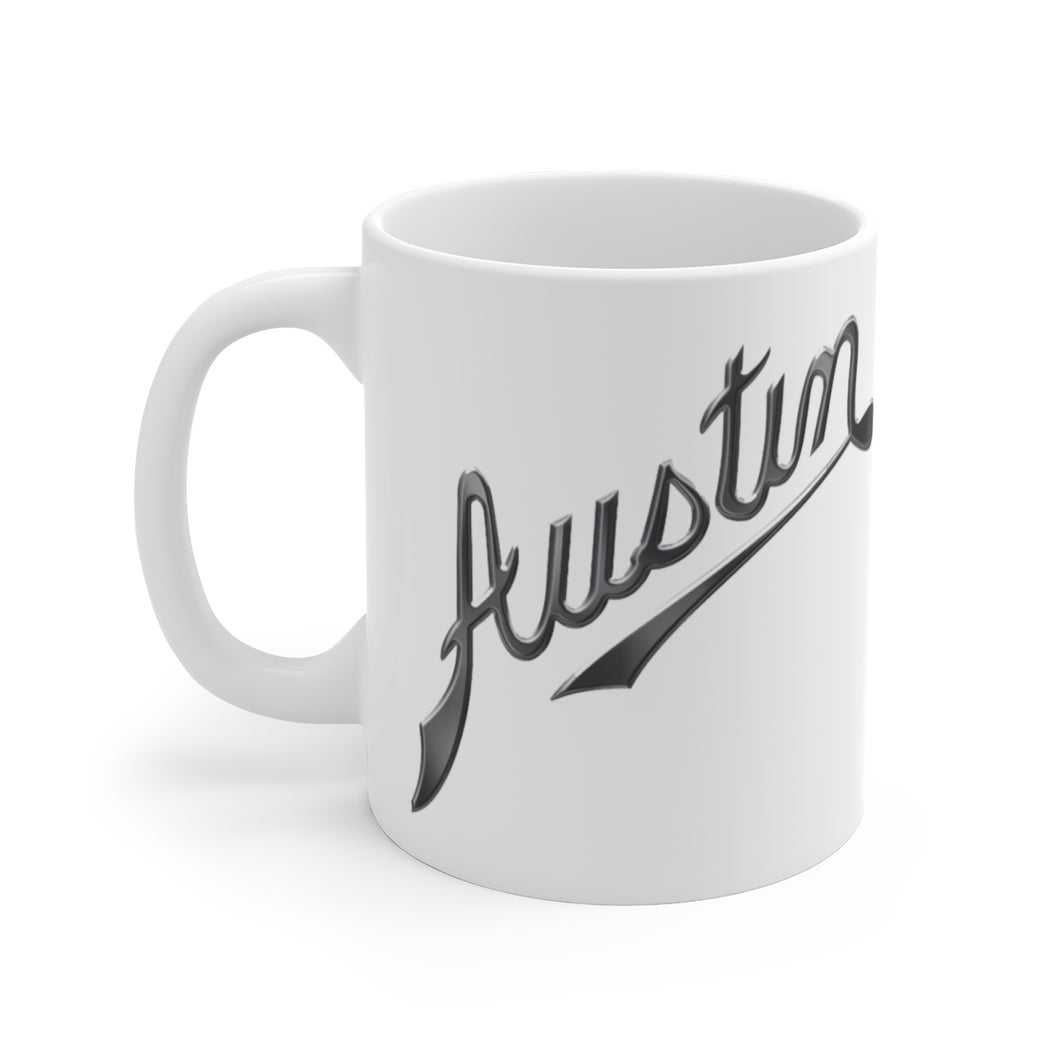 Austin Motor Company White Ceramic Mug by SpeedTiques