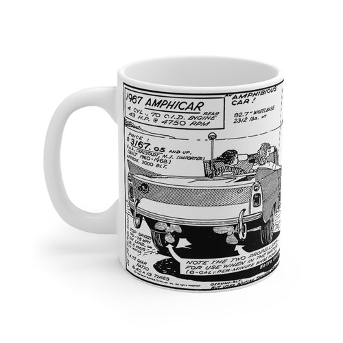 1967 Amphicar Mug 11oz by Retro Boater