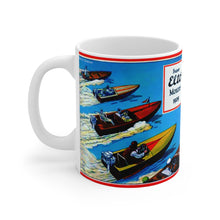 1929 Super Elto Outboard Motor White Ceramic Mug by Retro Boater