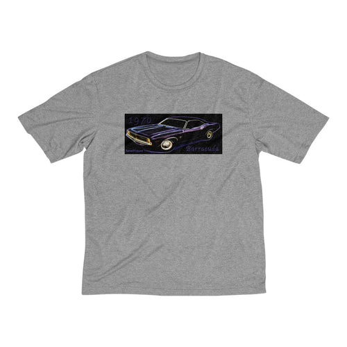 1970 Plymouth Barracuda Men's Heather Dri-Fit Tee by SpeedTiques