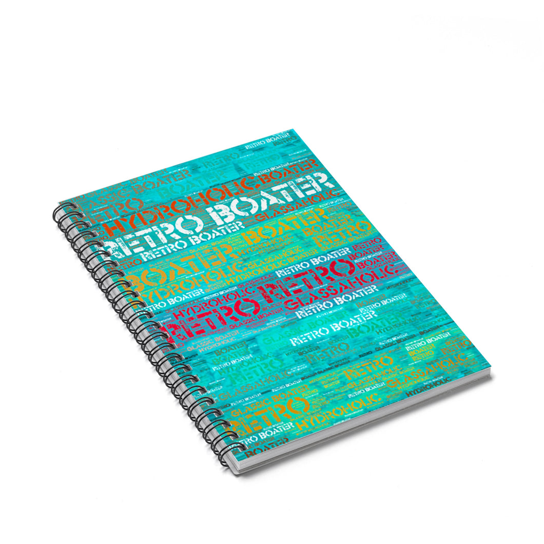 Colored Wood by Retro Boater Spiral Notebook - Ruled Line