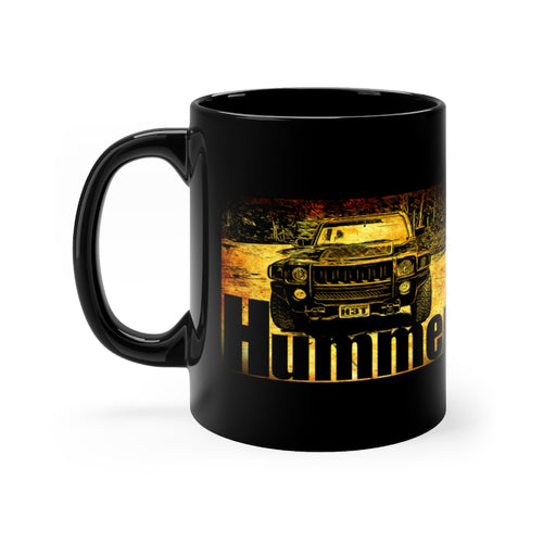 Classic 2009 Hummer H3t Black mug 11oz by SpeedTiques