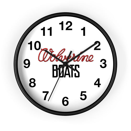 Wagemaker Woverine Boats by Retro Boater Wall clock